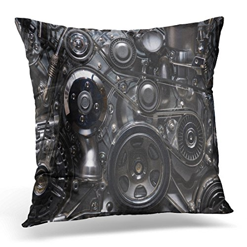 Breezat Throw Pillow Cover Car Fragment of the Engine Gear Abstract Decorative Pillow Case Home Decor Square 20x20 Inches Pillowcase