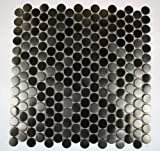 Metal Silver Stainless Steel 3/5 Penny Round Tiles