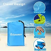 Oversized 82 X79 Waterproof Beach Mat for 4-7 Persons Eclawen Sand Free Beach Blanket Hiking /& Music Festivals Lightweight Quick Drying Heat Resistant Outdoor Picnic Blanket for Camping Travel