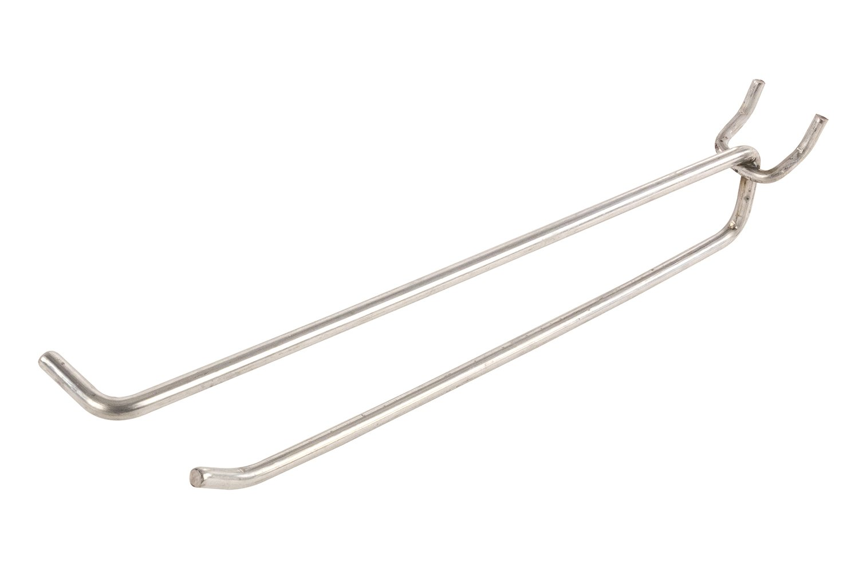 FFR Merchandising 7252641801 Metal Peg Scan Hook, 8'' Length, 4 Gauge (Pack of 100)