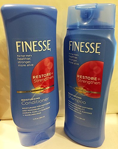 Finesse Restore & Strengthen Moisturizing Shampoo & Conditioner Combo 13 Oz Each by Finesse by FINESSE