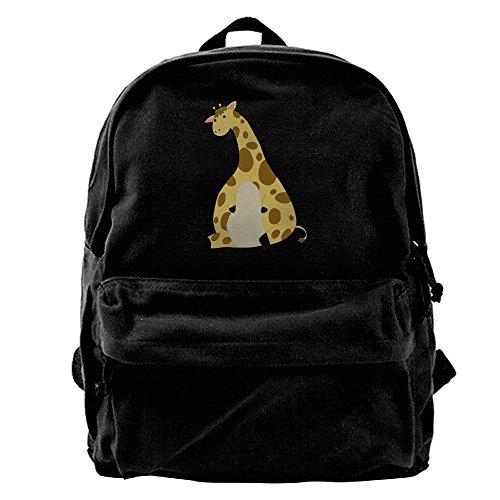 Giraffe Hobo (AHOOCUSTOM The Giraffe Canvas Shoulder Backpack Men & Women Canvas Backpack School Laptop Bag Hiking Travel Rucksack)