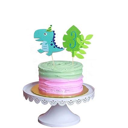 Awe Inspiring Dinosaur 3Rd Birthday Cake Toppers Three Rex Cake Toppers Third 3 Personalised Birthday Cards Beptaeletsinfo