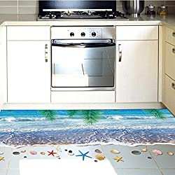 Wall Sticker ZTY66, 3D Coconut Trees Removable Floor / Mural Sticker for Home Decor, 60 x 90CM