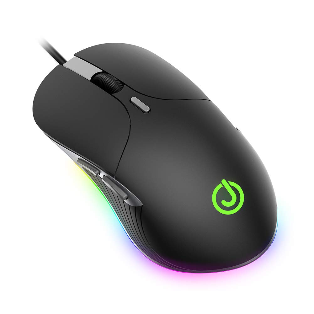 JOYSEUS x6 Wired Gaming Mouse, Chroma RGB Backlit, 3200 DPI Adjustable with Nylon Braided Cable for Windows PC Gamers