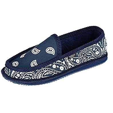 Trooper America Men's Bandana Print Slip On Slipper Shoe Blue Size: 7