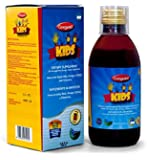 Ceregumil Kids Vitamins Algae Omega 3 EPA DHA Liquid Vitamins and Minerals w/ TERRIFIC Cherry Taste + Vitamin C, D3, B6, B12 (Methylcobalamin) for Physical and Mental Development, UNIQUE w/ High Grade Royal Jelly to Help Fight Stress and Fatigue to Help Maintain Normal Growth and Development, Immune System Booster and Nervous System - 250mL - (Pekes)