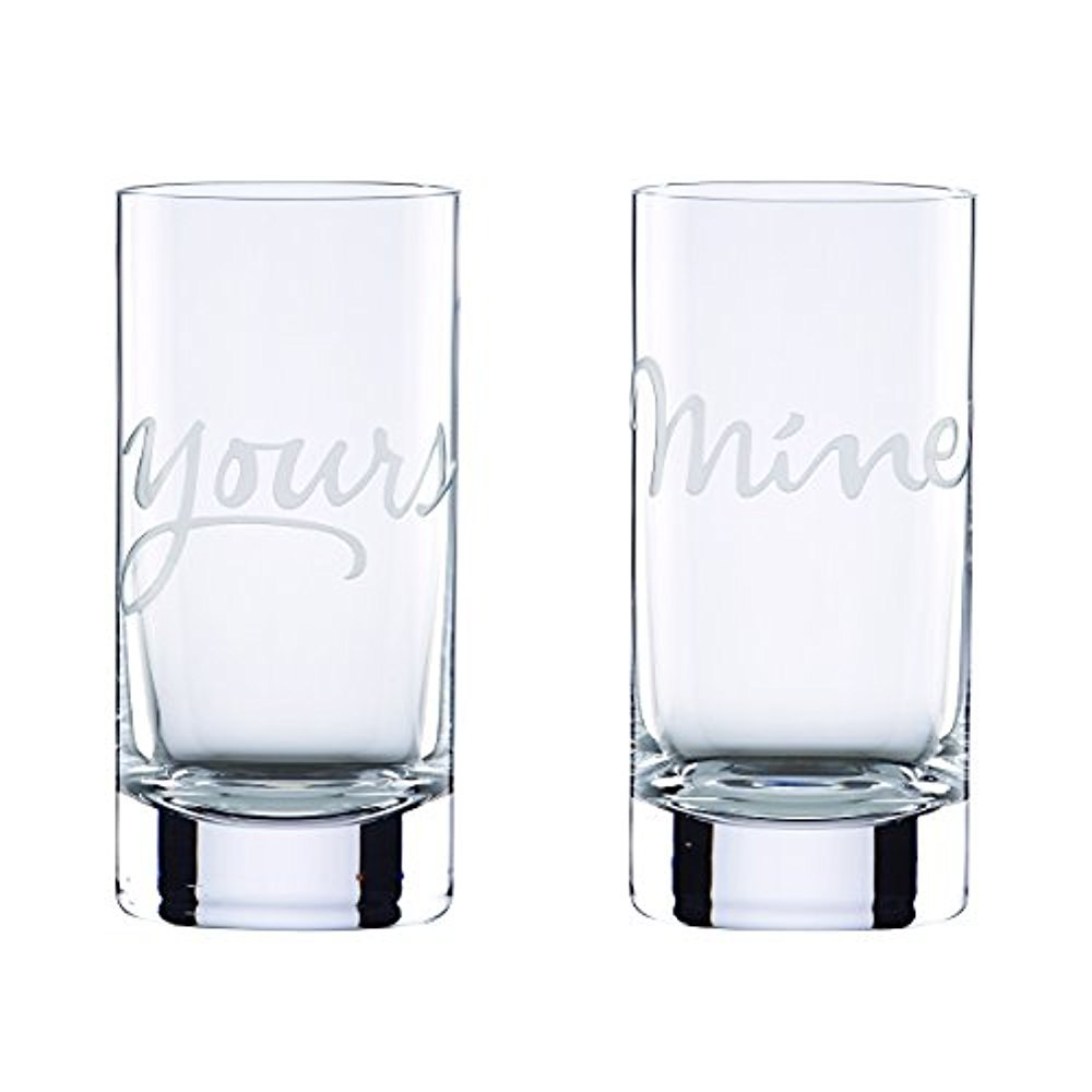 kate spade new york Two of a Kind Mine and Yours Highball Glass, Set of 2