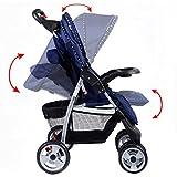 Costzon Baby Stroller Folding Pushchair w/Canopy (Blue)