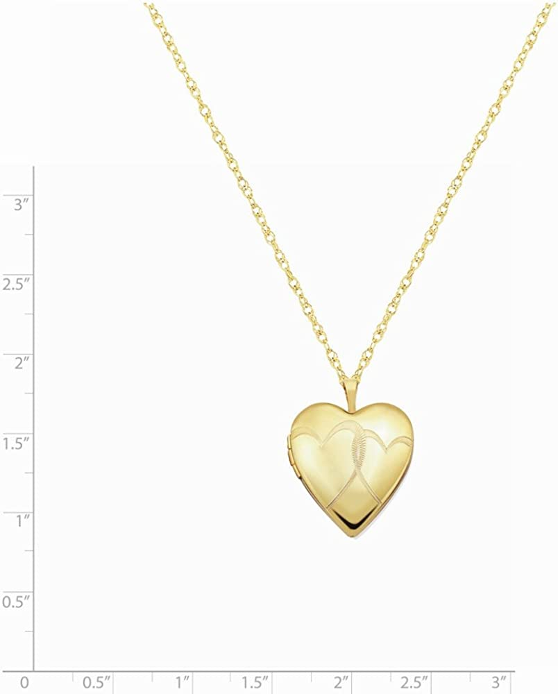 14K Gold 1//20 Gold Filled 20mm Entwined Hearts Heart Locket