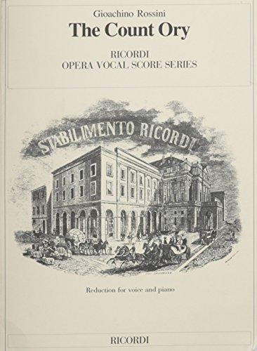 Partitions classique RICORDI ROSSINI GIOACCHINO - THE COUNT ORY - VOCAL SCORE - ENGLISH VERSION Voix solo, piano by