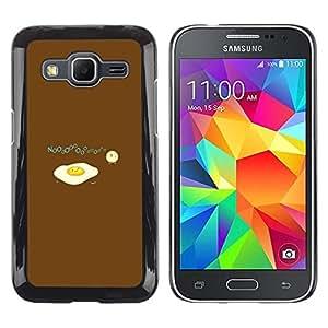 Be Good Phone Accessory // Dura Cáscara cubierta Protectora Caso Carcasa Funda de Protección para Samsung Galaxy Core Prime SM-G360 // Egg Food Baby Chicken Art Drawing Symbolic