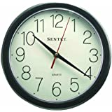Sentry CL10B Large Number Wall Clock, 10-Inch, Black