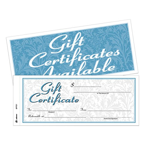 Cardinal Two-Part Carbonless Gift Certificates (ABFGFTC1)
