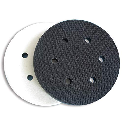 6' 6 Holes 150mm Soft Interface Pad Soft Foam Disc Pad For Damping & Protecting Sanding Disc (Pack of 5)