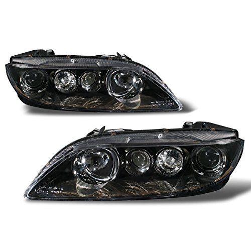 6 Headlight Assembly (SPPC Black Headlights For Mazda 6 - Passenger and Driver Side)