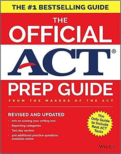 fe577e55fda640 Amazon.com  The Official ACT Prep Guide