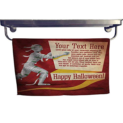 warmfamily Sports Ttowel Happy Halloween Cute Retro Banner on Craft Paper Texture with Towel W 8
