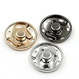 ROSENICE Sew On Snaps Buttons Metal Snaps Fasteners Press Studs Buttons 50 Sets Brass Fasteners DIY Craft Accessory