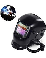 Auto Darkening Solar Powered Welding Helmet Welder Mask, Professional Hood with Wide Lens Adjustable Shade Range 4/9-13 for Mig Tig Arc Weld Grinding