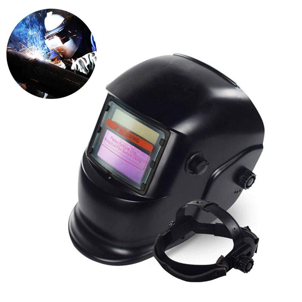TOOGOO 2018 Nuevo Pro Mascara soldador solar Casco de soldadura de oscurecimiento automatico Patron cabeza de tuerca