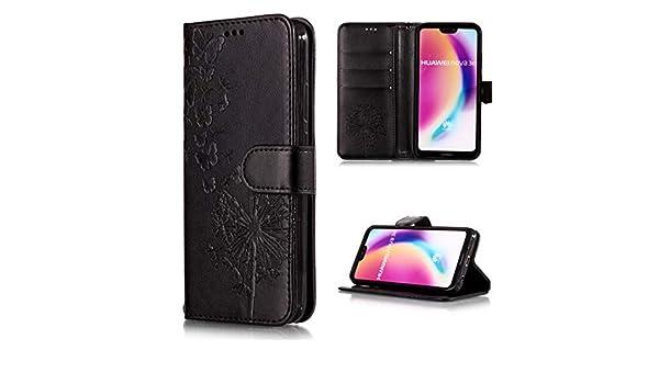 Protege tu teléfono, Estuche de cuero con flip horizontal con estampado de diente de león estampado vintage para Huawei P20 Lite / Nova 3e, con ranura para tarjeta y soporte, billetera y