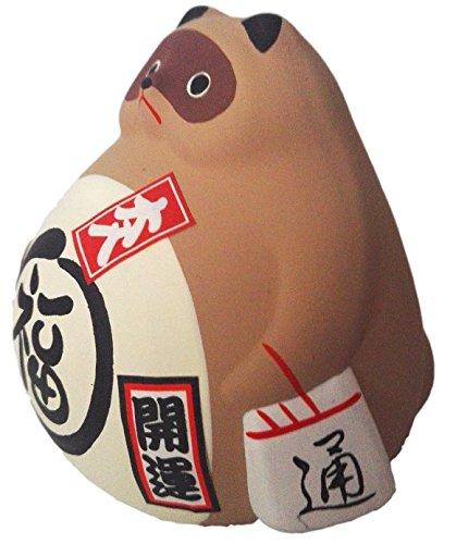 8cm x 10 cm Made In Japan Peut /être utilis/é comme tirelire Gros Tanuki