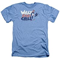 Trevco Men's Chilly Willy Short Sleeve T-Shirt, Heather Light Blue, Medium