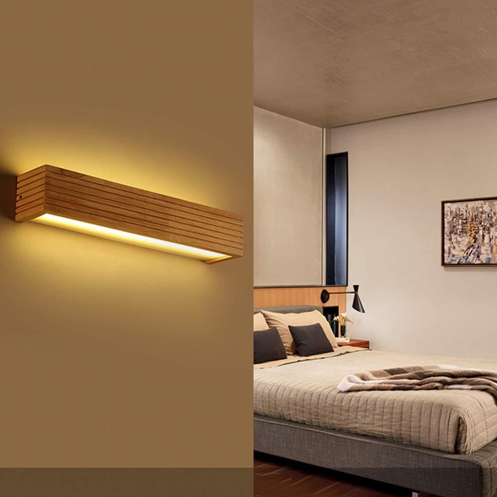 UBEN Wandleuchte Kreative Einfache Wandlampe Treppenhaus Flur Schlafzimmer Lampe Nachttischlampe Holz Led Massivholz Lampen