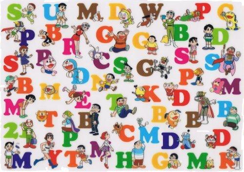 Kawasaki Fujiko ? F ? Fujio Museum underlay alphabet pattern [Doraemon, Kiteretsu Daihyakka, Perman, Esper Mami, 21 Emon, plum star Denka, Mojacko, Pokonyan!, Chimpui, Bakel-kun, Mokkoro kun, Baubau minister, middle-aged super Mr. within Man Hidarie, T ? P Bonn, perched Poco, outlandish Chu dog]