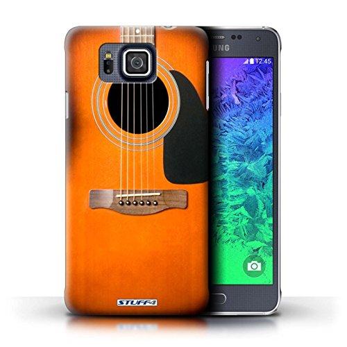Kobalt® Imprimé Etui / Coque pour Samsung Galaxy Alpha / Sunburst Acoustique conception / Série Guitare
