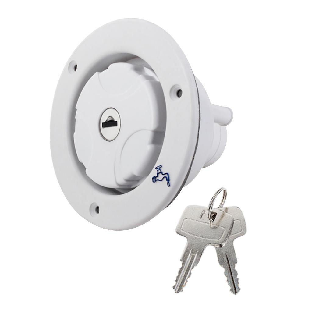 amagogo Universal Fresh Water Locking Inlet Hatch Filler Cap For Caravan Motorhome - White, as described