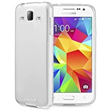 Fosmon® Samsung Galaxy Core Prime Case (DURA-FRO) Slim-Fit Flexible TPU Gel Case Cover for Samsung Galaxy Core Prime - Fosmon Retail Packaging (Clear)