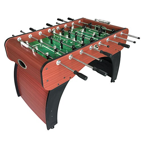 Hathaway Metropolitan Foosball Table, Modern Soccer Game Table for Kids and Adults with Cherry Finish, 54-in