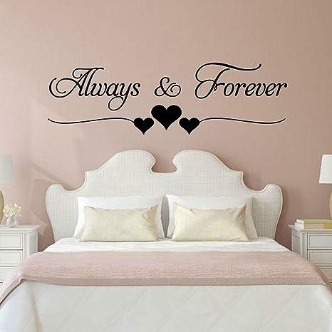 Amor romántico Siempre para siempre Ins Pegatinas de pared para la ...