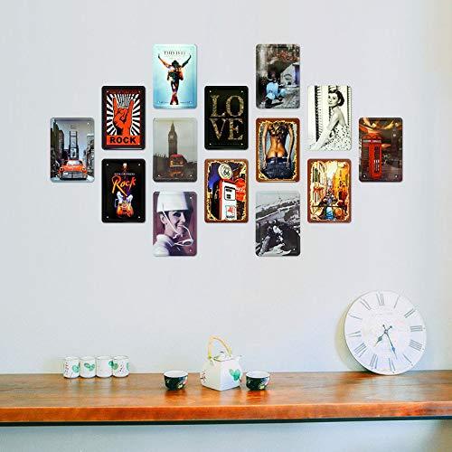CHUNZO A Home Without A Cat/Affiche de Fer Plaque de Porte Signe M/étal Panneau /Étain Enseignes Aluminium davertissement Mur d/écoration caf/é Bar