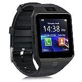 Padraig Mi Redmi Note 4G Compatible Bluetooth DZ09 Smart Watch Wrist Watch Phone with Camera & SIM Card Support (black)
