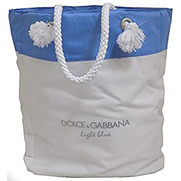Dolce   Gabbana Light Blue Beach Bag White and Blue  Amazon.co.uk  Luggage 4f1d37997f12c