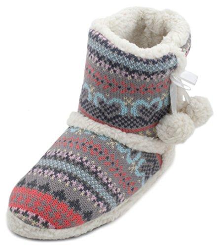 SlumberzzZ - Zapatillas de estar por casa de Material Sintético para mujer gris gris Iw1NE8Gj0