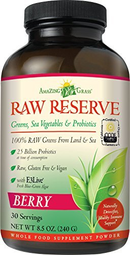 Amazing Grass, Raw Reserve, Green Superfood, Berry, 8.5 oz