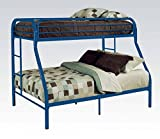 ACME Furniture 02052BU Tritan Bunk Bed, Twin X-Large/Queen, Blue