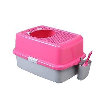 Jlxl Bandeja De Basura Cat Grande Semi Baño Mascota Perro para Adjunto Camada Salud Caja con Pala Alto Calidad Automáticamente (Color : B): Amazon.es: ...
