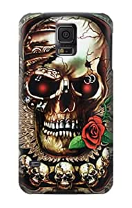 S0753 Skull Wing Rose Punk Case Cover for Samsung Galaxy S5