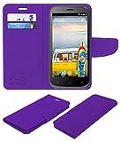 Acm Mobile Leather Flip Flap Wallet Case for Micromax Bolt A82 Mobile Cover Purple