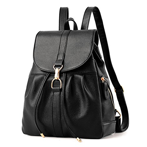 COWORLD Backpack Purse for Women, Waterproof PU Leather Anti-theft Shoulder Bag for Daily Work School Hiking Travel by COWORLD