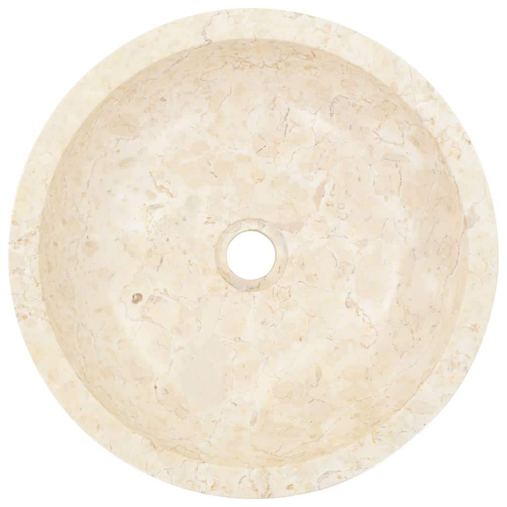 vidaXL Lavabo Sanitario Cuarto de Ba/ño Servicio Fregadero Piezas de Fontaner/ía Bricolaje Instalaci/ón Decoraci/ón Aseos Grifer/ía 40x12 cm M/ármol Crema Piedra Natural