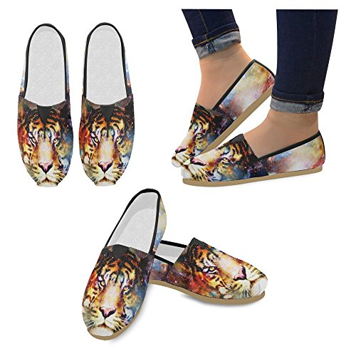 Interestprint Femmes Mocassins Classique Casual Toile Glisser Sur La Mode Chaussures Sneakers Appartements Multi 31