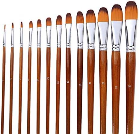 WEIHEEペイントブラシ12個ロングハンドルプロフェッショナルオイルアーティストブラシナイロン剛毛ペンブラシ