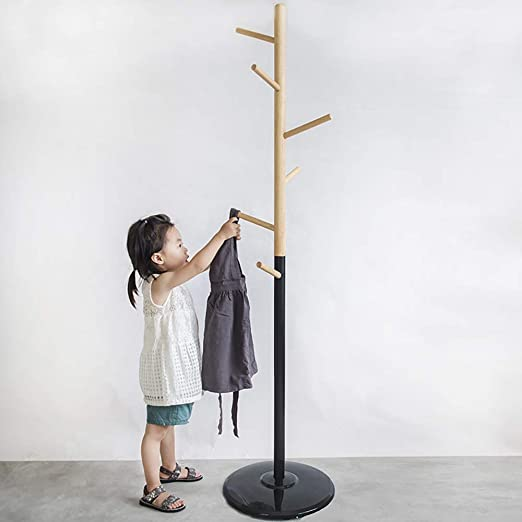 Amazon.com: Coat RACK - Perchero de madera maciza con forma ...