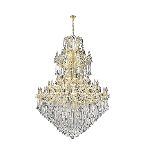 Worldwide Lighting W83069G72 Maria Theresa 84 Light with Double-Cut Clear Crystal Chandelier, Gold Finish